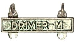 US Army Driver M STA-BRITE® Qualification Bar - Sta-Brite Insignia INC.