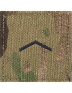 E2 ROTC Private OCP Rank with Hook Fastener - Sta-Brite Insignia INC.