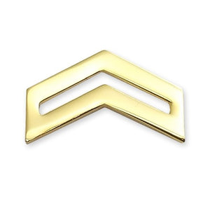 E4 ROTC Corporal STA-BRITE® Rank Pin-on - Sta-Brite Insignia INC.