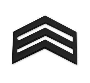 E5 ROTC Sergeant STA-BRITE® BLACK Rank Pin-on - Sta-Brite Insignia INC.