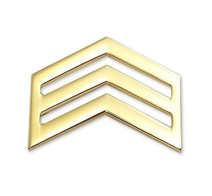 E5 ROTC Sergeant STA-BRITE® Rank Pin-on - Sta-Brite Insignia INC.