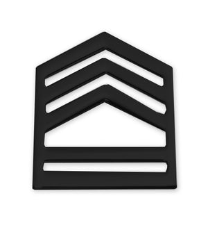 E7 ROTC SFC STA-BRITE® BLACK Rank Pin-on - Sta-Brite Insignia INC.