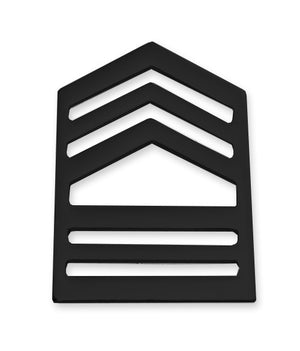 E8-1 ROTC Master Sergeant STA-BRITE® BLACK Rank Pin-on - Sta-Brite Insignia INC.