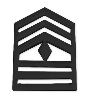 E8-2 ROTC First Sergeant STA-BRITE® BLACK Rank Pin-on - Sta-Brite Insignia INC.