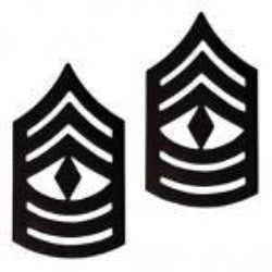 US Army E8 First Sergeant STA-BRITE® BLACK Metal Pin-on Rank - Sta-Brite Insignia INC.