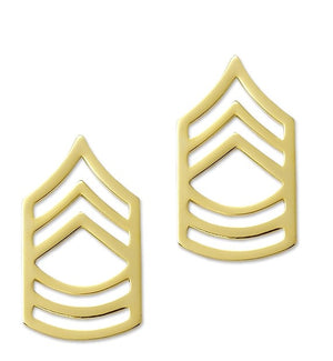 US Army E8 Master Sergeant STA-BRITE® Pin-on Rank - Sta-Brite Insignia INC.