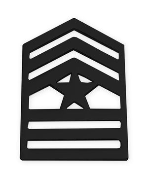 E9-1 ROTC Sergeant Major STA-BRITE® BLACK Rank Pin-on - Sta-Brite Insignia INC.