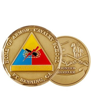 US Army Fort Benning Armor School Challenge Coin - Sta-Brite Insignia INC.