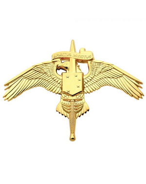 US Marine Corps MARSOC BADGE MARINE FORCES SPECIAL OPERATIONS COMMAND FULL SIZE BRITE Allow  2 weeks for shipment