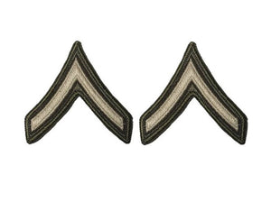 AGSU U.S. Army E2 Private Chevron Sew on Rank Male
