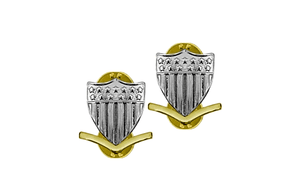 E4 Coast Guard Metal Enlisted Collar Device Petty Officer STA-BRITE