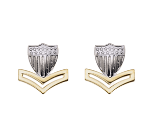 E5 Coast Guard Metal Enlisted Collar Device Petty Officer STA-BRITE