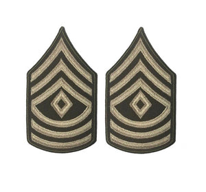 AGSU U.S. Army E8 First Sergeant Chevron Sew on Rank Male