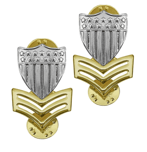 E6 Coast Guard Metal Enlisted Collar Device Petty Officer STA-BRITE