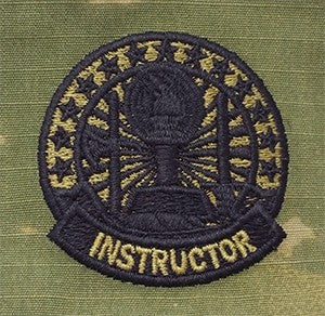 US Army Instructor Badge Basic OCP Sew-on Badge - Sta-Brite Insignia INC.