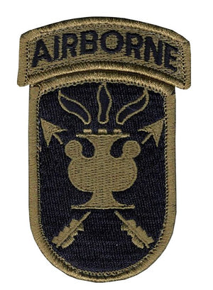 US Army JFK Special Warfare OCP Patch with Hook Fastener and Airborne Tab (pair) - Sta-Brite Insignia INC.