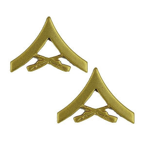 US Marine Corps Lance Corporal Satin Gold Rank - Sta-Brite Insignia INC.