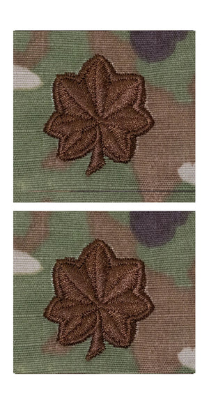 US Air Force O4 Major OCP Spice Brown Sew-on Rank For Cap - Sta-Brite Insignia INC.