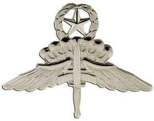 US Army Military Free Fall Parachutist (Halo) Master STA-BRITE® Pin-on Badge - Sta-Brite Insignia INC.