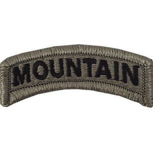 US Army Mountain ACU Tab with Hook Fastener (pair) - Sta-Brite Insignia INC.