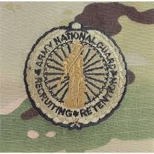 US Army National Guard Recruiting Retention OCP Senior Sew-On Badge - Sta-Brite Insignia INC.