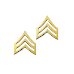 "Police Sergeant Gold Rank Pin Tall 15/16"" Pair - Sta-Brite Insignia INC."