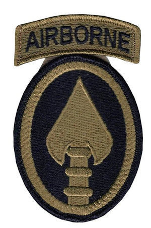 US Army Special Ops Command OCP Patch with Hook Fastener and Airborne Tab (pair) - Sta-Brite Insignia INC.