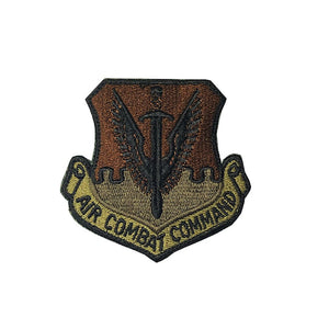 US Air Force Air Combat Command OCP Scorpion Spice Brown Patch with Hook Fastener - Sta-Brite Insignia INC.