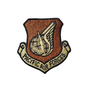 US Air Force Pacific Air Forces OCP Scorpion Spice Brown Patch with Hook Fastener - Sta-Brite Insignia INC.