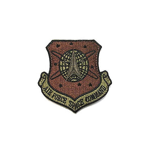 US Air Force Space Command OCP Scorpion Spice Brown Patch with Hook Fastener - Sta-Brite Insignia INC.
