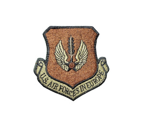 US Air Force Air Forces In Europe OCP Scorpion Spice Brown Patch with Hook Fastener - Sta-Brite Insignia INC.