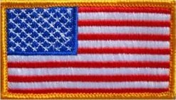U.S. Flag Color Sew-on Patch - Sta-Brite Insignia INC.