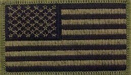 U.S. Flag Olive Drab OD Subdued Patch with Hook Fastener - Sta-Brite Insignia INC.
