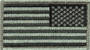 U.S. Flag Reverse ACU Patch with Hook Fastener - Sta-Brite Insignia INC.