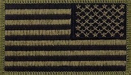 U.S. Flag Reverse Olive Drab OD Subdued Sew-on Patch - Sta-Brite Insignia INC.