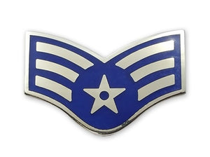 US Air Force E4 Senior Airman STA-BRITE® Pin-on - Sta-Brite Insignia INC.