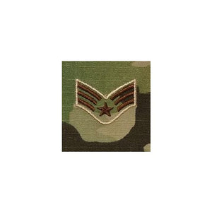 US Air Force E4 Senior Airman OCP Spice Brown Sew-on Rank For Shirt/Coat - Sta-Brite Insignia INC.