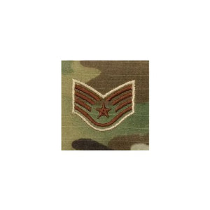 US Air Force E5 Staff Sergeant OCP Spice Brown Sew-on Rank For Shirt/Coat - Sta-Brite Insignia INC.