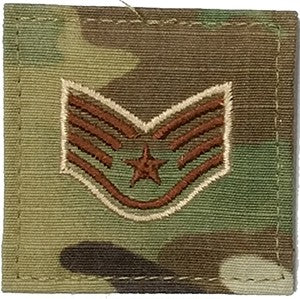 US Air Force E5 Staff Sergeant OCP Spice Brown with Hook Fastener - Sta-Brite Insignia INC.