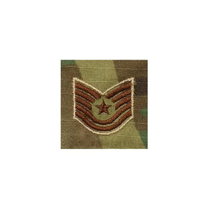 US Air Force E6 Technical Sergeant OCP Spice Brown Sew-on Rank For Shirt/Coat - Sta-Brite Insignia INC.