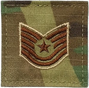 US Air Force E6 Technical Sergeant OCP Spice Brown with Hook Fastener - Sta-Brite Insignia INC.