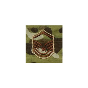 US Air Force E7 Master Sergeant OCP Spice Brown Sew-on Rank For Shirt/Coat - Sta-Brite Insignia INC.