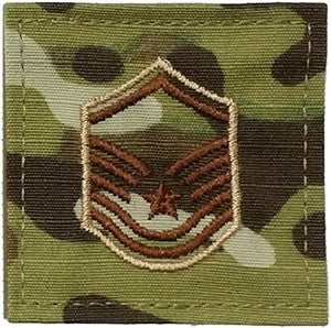 US Air Force E7 Master Sergeant OCP Spice Brown with Hook Fastener - Sta-Brite Insignia INC.