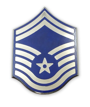 US Air Force E8 Senior Master Sergeant STA-BRITE® Pin-on - Sta-Brite Insignia INC.