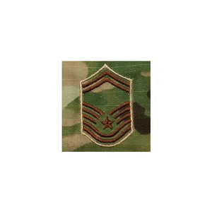 US Air Force E8 Senior Master Sergeant OCP Spice Brown Sew-on Rank For Shirt/Coat - Sta-Brite Insignia INC.