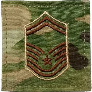 US Air Force E8 Senior Master Sergeant OCP Spice Brown with Hook Fastener - Sta-Brite Insignia INC.