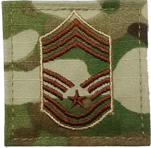 US Air Force E9 Chief Master Sergeant OCP Spice Brown with Hook Fastener - Sta-Brite Insignia INC.
