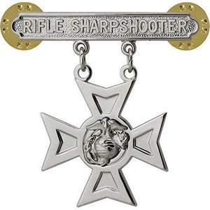 US Marine Corps Rifle Sharpshooter Badge - Sta-Brite Insignia INC.