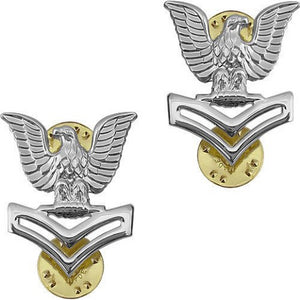 US Navy E5 STA-BRITE® Pin-on - Sta-Brite Insignia INC.
