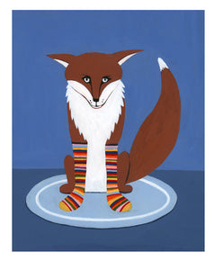 Fox in Sox Print